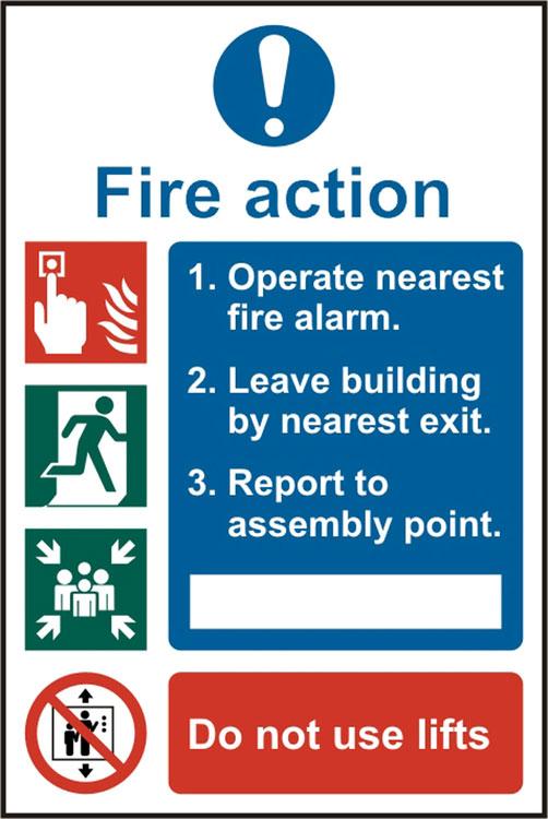 Fire Action Procedure Sign