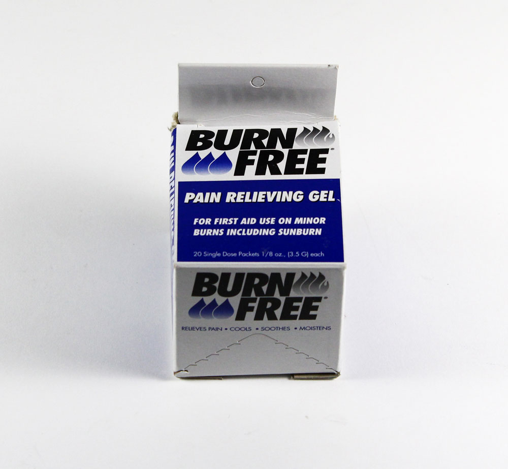 BURN FREE BURNS GEL SACHETS 20 PER BOX