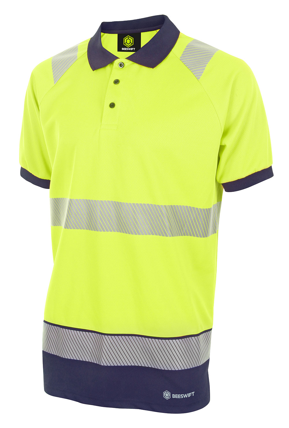 HIVIS TWO TONE POLO SHIRT SHORT SLEEVE