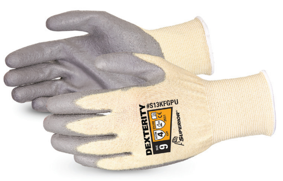 DEXTERITY® PU PALM-COATED CUT-RESISTANT STRING-KNIT GLOVE